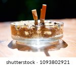 glass ashtray with splash of... | Shutterstock . vector #1093802921