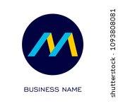letter m logo vector   Shutterstock .eps vector #1093808081