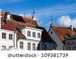Tallinn old town roofs - Estonia, Europe - stock photo