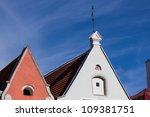 Tallinn old town roofs - Estonia - stock photo