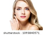 beautiful blonde girl portrait  ... | Shutterstock . vector #1093840571