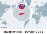 world map centered on america... | Shutterstock .eps vector #1093841381