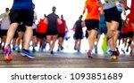 colorful silhouette of marathon ... | Shutterstock . vector #1093851689