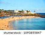 panoramic view of playa blanca  ... | Shutterstock . vector #1093855847