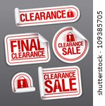 final clearance sale stickers. | Shutterstock .eps vector #109385705