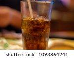 glass of soda refreshment from... | Shutterstock . vector #1093864241