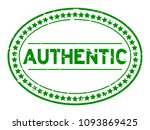 grunge green authentic oval...   Shutterstock .eps vector #1093869425