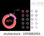 set of circle percentage flow... | Shutterstock .eps vector #1093882901