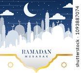 ramadan kareem background... | Shutterstock .eps vector #1093887074