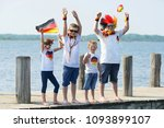 children cheering and... | Shutterstock . vector #1093899107