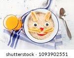oatmeal porridge with fruits... | Shutterstock . vector #1093902551