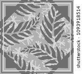 vintage floral silk scarf... | Shutterstock .eps vector #1093918514