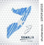 map of somalia with hand drawn... | Shutterstock .eps vector #1093918535