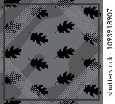 silk scarf with leaves on gray... | Shutterstock .eps vector #1093918907