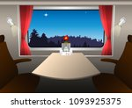 a compartment in a railway... | Shutterstock .eps vector #1093925375