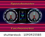 realistic car dashboard ...   Shutterstock .eps vector #1093925585
