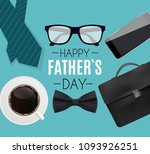 happy fathers day background.... | Shutterstock .eps vector #1093926251