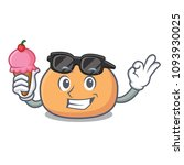 with ice cream mochi character... | Shutterstock .eps vector #1093930025