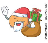santa with gift mochi mascot... | Shutterstock .eps vector #1093930439