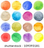 watercolor hand painted circles ... | Shutterstock . vector #109393181