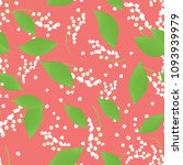 seamless pattern with vector... | Shutterstock .eps vector #1093939979
