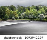 the stunning weir on the river... | Shutterstock . vector #1093942229