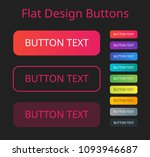 flat design button | Shutterstock .eps vector #1093946687