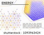 energy concept with thin line...   Shutterstock .eps vector #1093963424