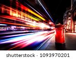 motion speed light in london... | Shutterstock . vector #1093970201