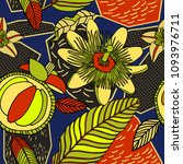 vector tropical pattern in... | Shutterstock .eps vector #1093976711
