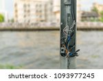 broken electric pole and... | Shutterstock . vector #1093977245