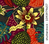 tropical floral pattern in... | Shutterstock .eps vector #1093979657
