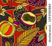 vector tropical pattern in... | Shutterstock .eps vector #1093980884