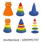 children's pyramid  developing... | Shutterstock .eps vector #1093991747