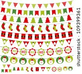 christmas decoration vector set.... | Shutterstock .eps vector #109399361