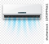 vector air conditioner with... | Shutterstock .eps vector #1093999661