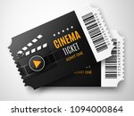 two black cinema tickets... | Shutterstock .eps vector #1094000864