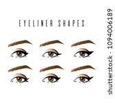 eyeliner shapes. various types... | Shutterstock .eps vector #1094006189