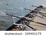 Long Sport Boat With Oars...