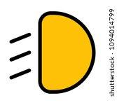 low beam headlight   Shutterstock .eps vector #1094014799