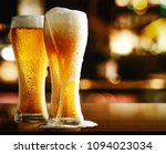 Stock photo beer in bar and free space for your decoration 1094023034