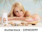 attractive blonde relaxing in... | Shutterstock . vector #109403099
