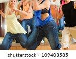 jazzdance   young people... | Shutterstock . vector #109403585