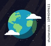 earth planet in space icon.... | Shutterstock .eps vector #1094049611