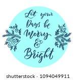 christmas greetings.... | Shutterstock .eps vector #1094049911