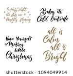 christmas greetings.... | Shutterstock .eps vector #1094049914