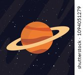 saturn planet in space icon.... | Shutterstock .eps vector #1094051279