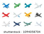 type of plane icon set.... | Shutterstock . vector #1094058704