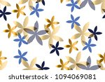 elegant blue and gold floral... | Shutterstock .eps vector #1094069081