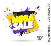 mega sale  banner design... | Shutterstock .eps vector #1094069804